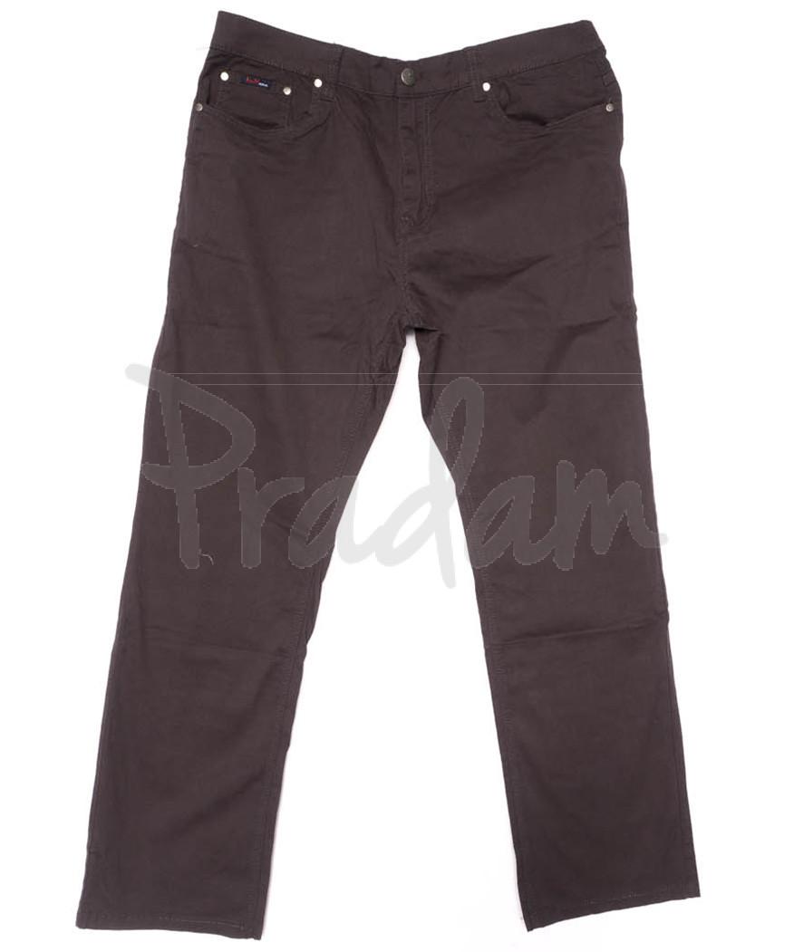 3033-D LS брюки мужские батальные коричневые весенние стрейчевые (34-44, 8 ед.)