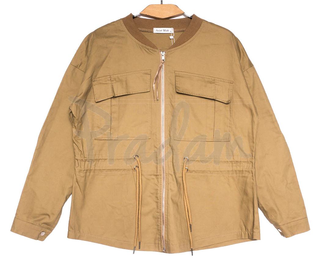 19199 Saint Wish куртка джинсовая женская коричневая весенняя коттоновая (S-2XL, 5 ед.)