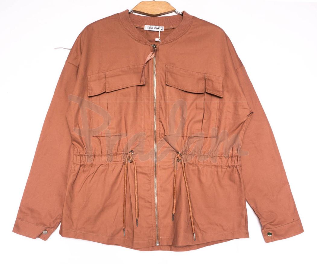 19199 Saint Wish куртка джинсовая женская коралловая весенняя коттоновая (S-2XL, 5 ед.)