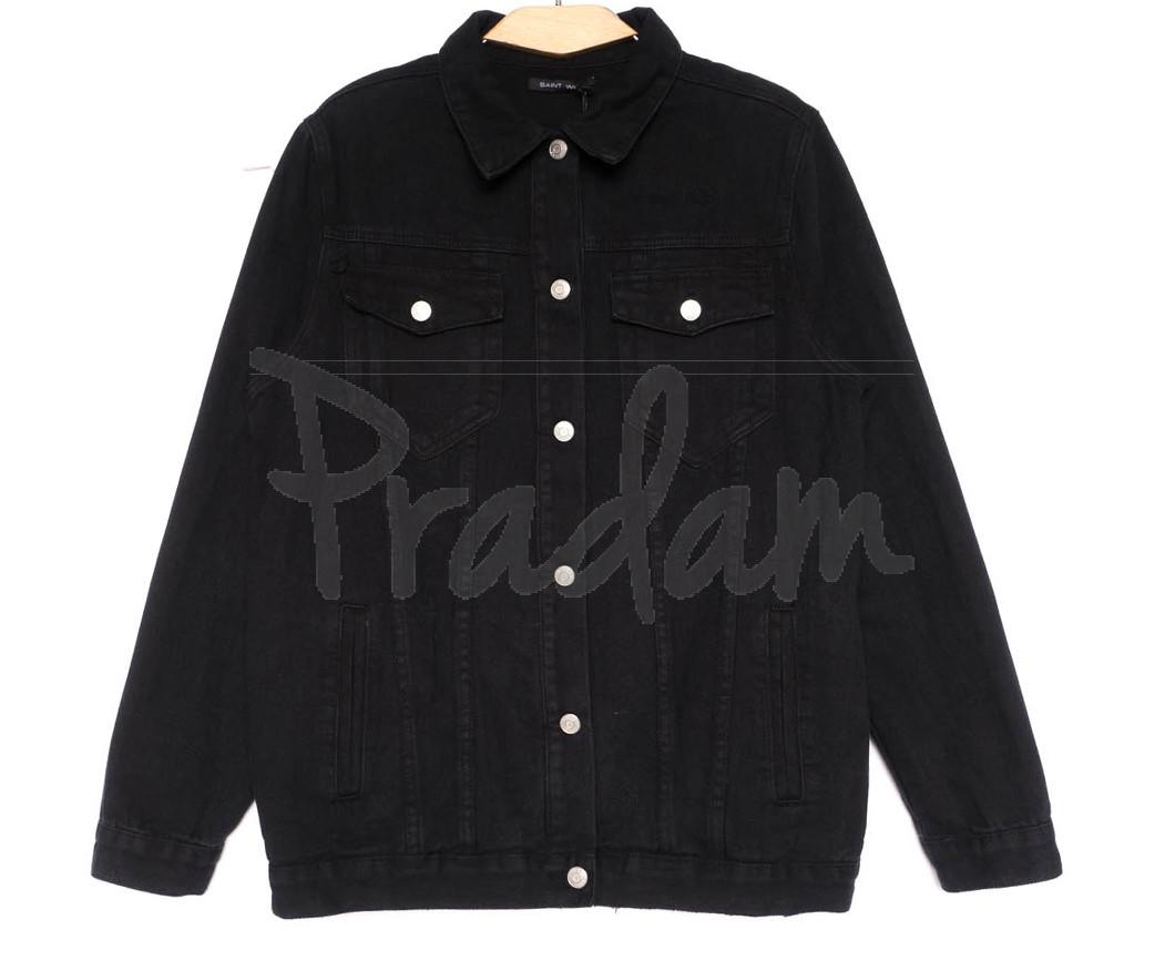 2028 Saint Wish куртка джинсовая женская черная весенняя коттоновая (S-XL, 4 ед.)