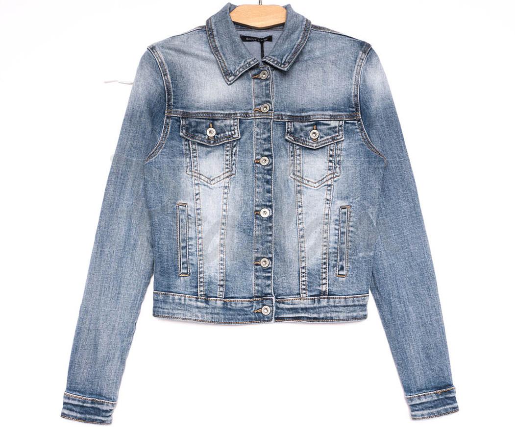9053 Saint Wish куртка джинсовая женская синяя весенняя стрейчевая (ХS-XL, 5 ед.)