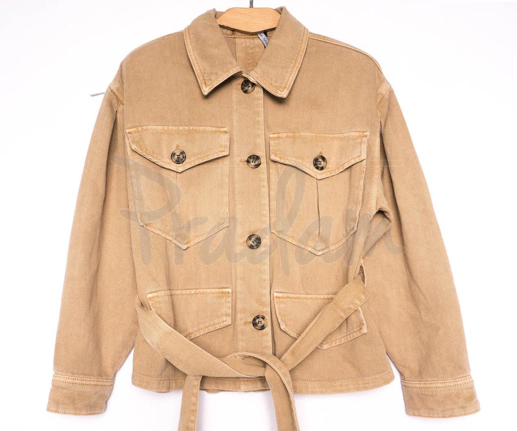 9067-7 Saint Wish куртка джинсовая женская коричневая весенняя коттоновая (ХS-XL, 5 ед.)