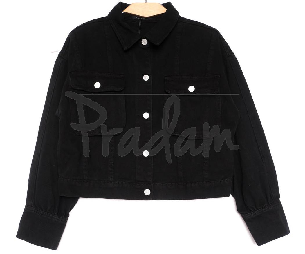 9104-1 Saint Wish куртка джинсовая черная весенняя коттоновая (ХS-XL, 5 ед.)