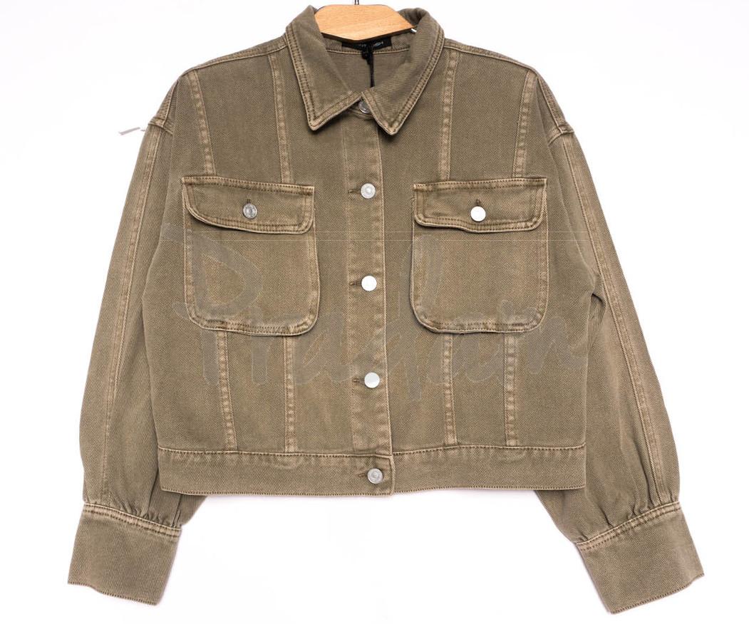 9104-11 Saint Wish куртка джинсовая женская хаки весенняя коттоновая (ХS-XL, 5 ед.)