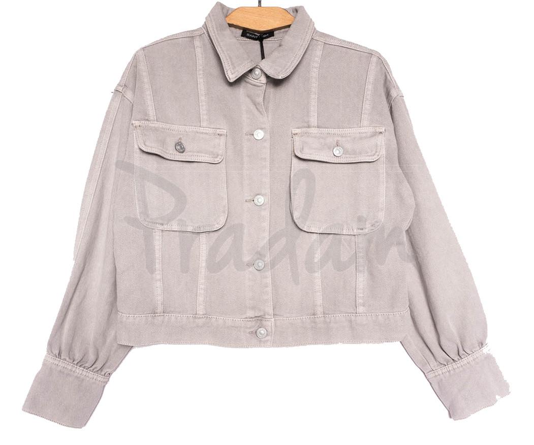 9104-8 Saint Wish куртка джинсовая женская серая весенняя коттоновая (ХS-XL, 5 ед.)