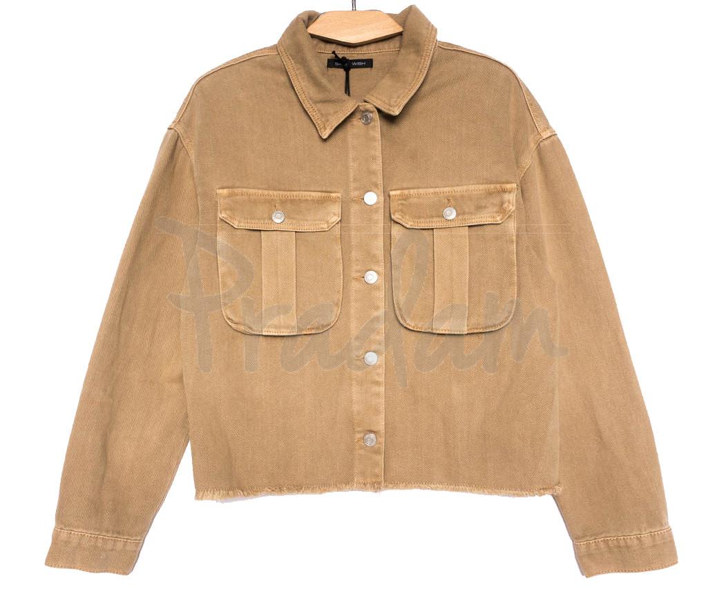 9020-1 Saint Wish куртка джинсовая женская хаки весенняя коттоновая (ХS-XL, 5 ед.)