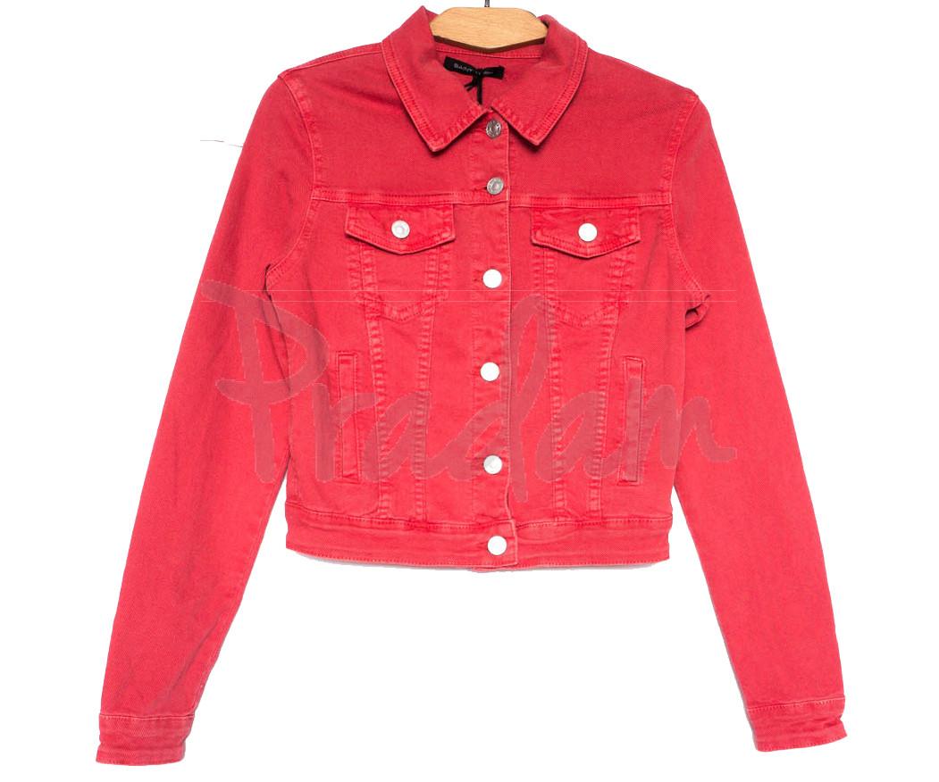 9035-9 Saint Wish куртка джинсовая женская красная весенняя стрейчевая (ХS-XL, 5 ед.)