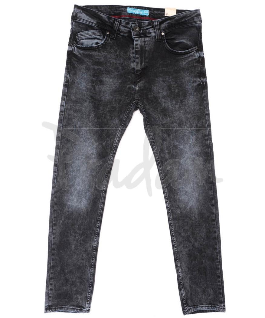 5964 Blue Nil джинсы мужские черные весенние стрейчевые (29-36, 8 ед.)