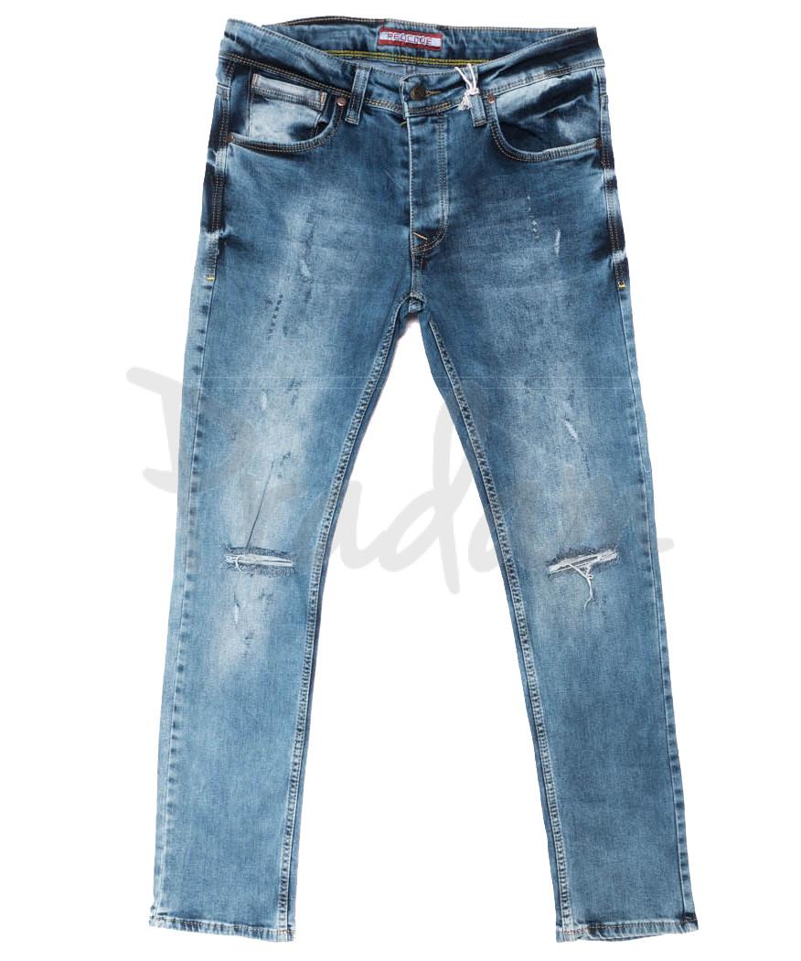 4389 Redcode джинсы мужские с рванкой синие весенние стрейчевые (29-36, 8 ед.)