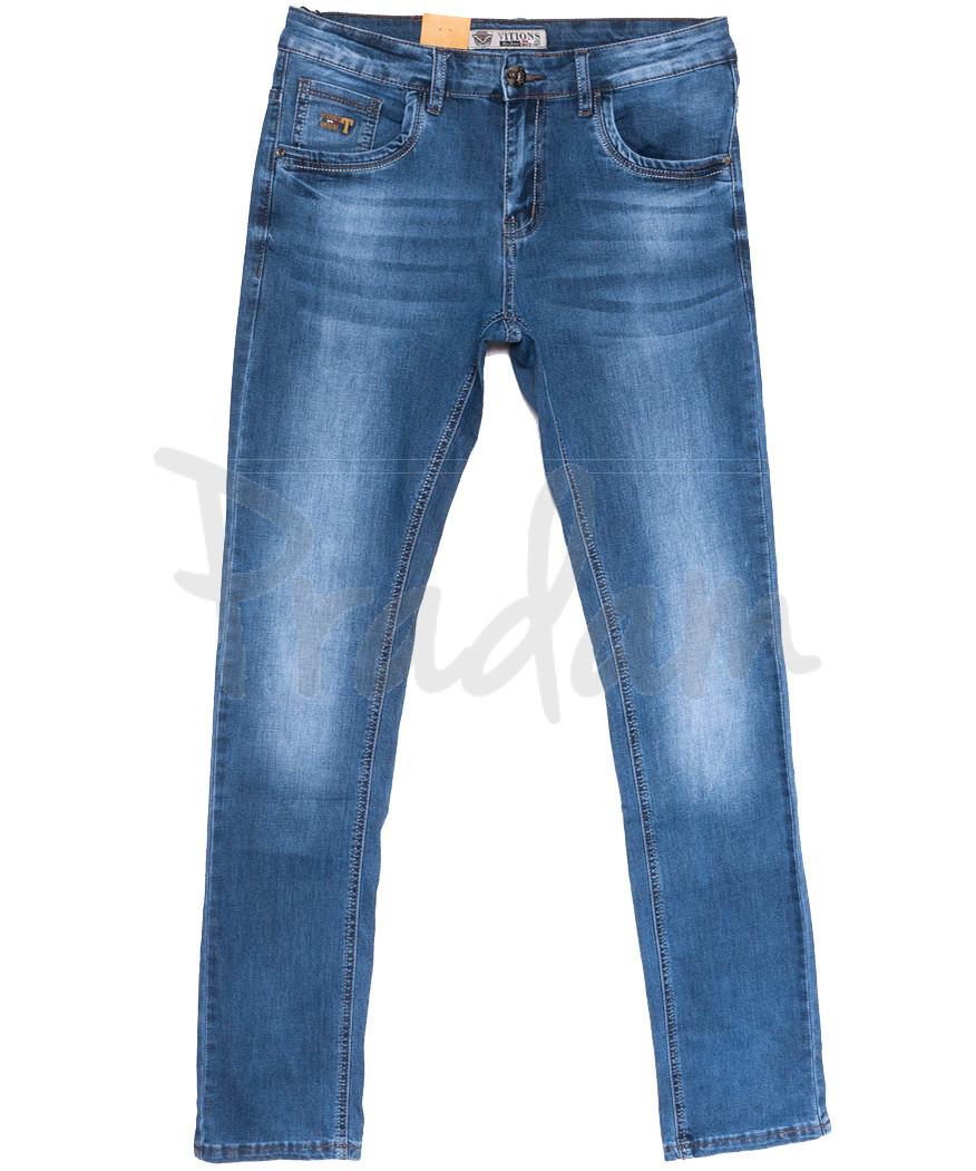 5039 Vitions джинсы мужские молодежные синие весенние стрейчевые (28-36, 8 ед.)