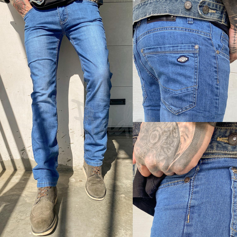 6006 Pobeda джинсы мужские синие весенние стрейчевые (30-40, 8 ед.)
