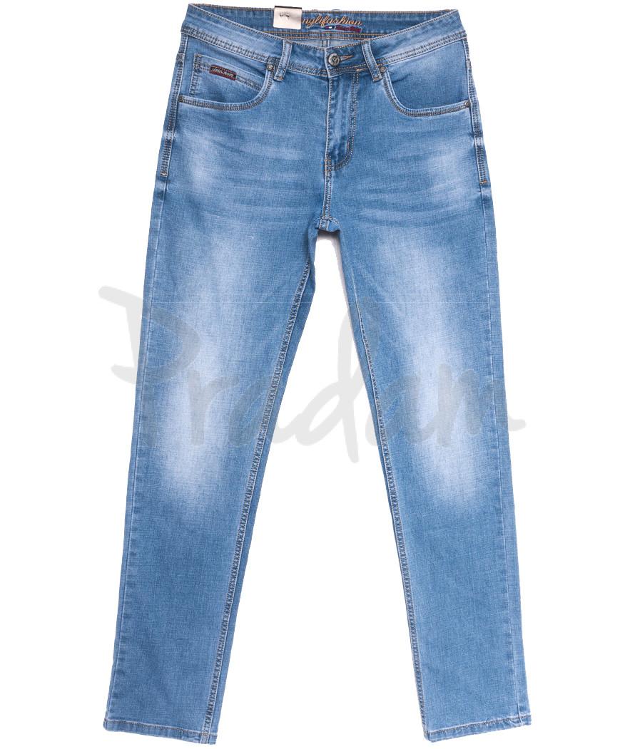 2235 Longli джинсы мужские голубые весенние стрейчевые (30-38, 8 ед.)