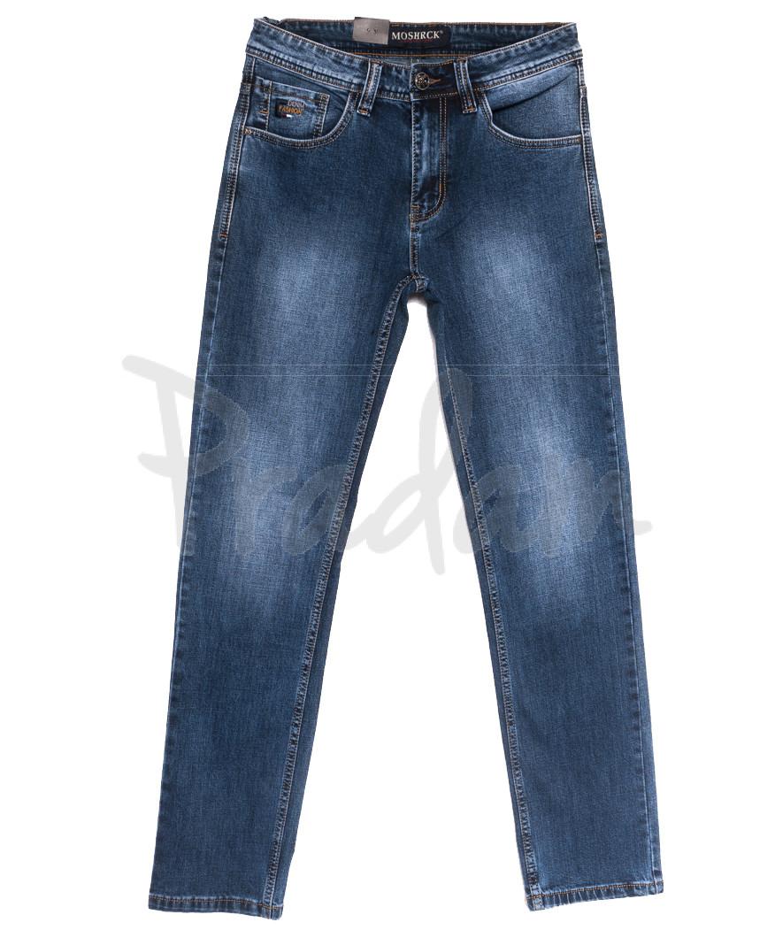 59938 Moshrck джинсы мужские полубатальные синие весенние стрейчевые (32-38, 8 ед.)