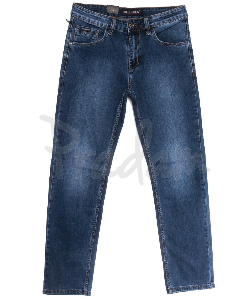 59939 Moshrck джинсы мужские полубатальные синие весенние стрейчевые (32-38, 8 ед.)