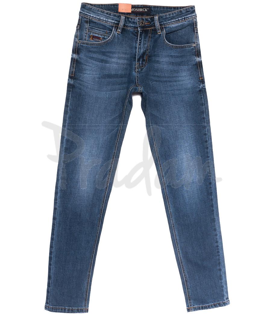 59930 Moshrck джинсы мужские молодежные синие весенние стрейчевые (28-36, 8 ед.)