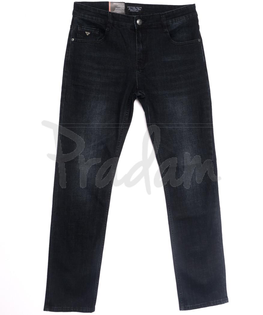 0642-А Likgass джинсы мужские полубатальные черные весенние стрейчевые (32-38, 8 ед.)