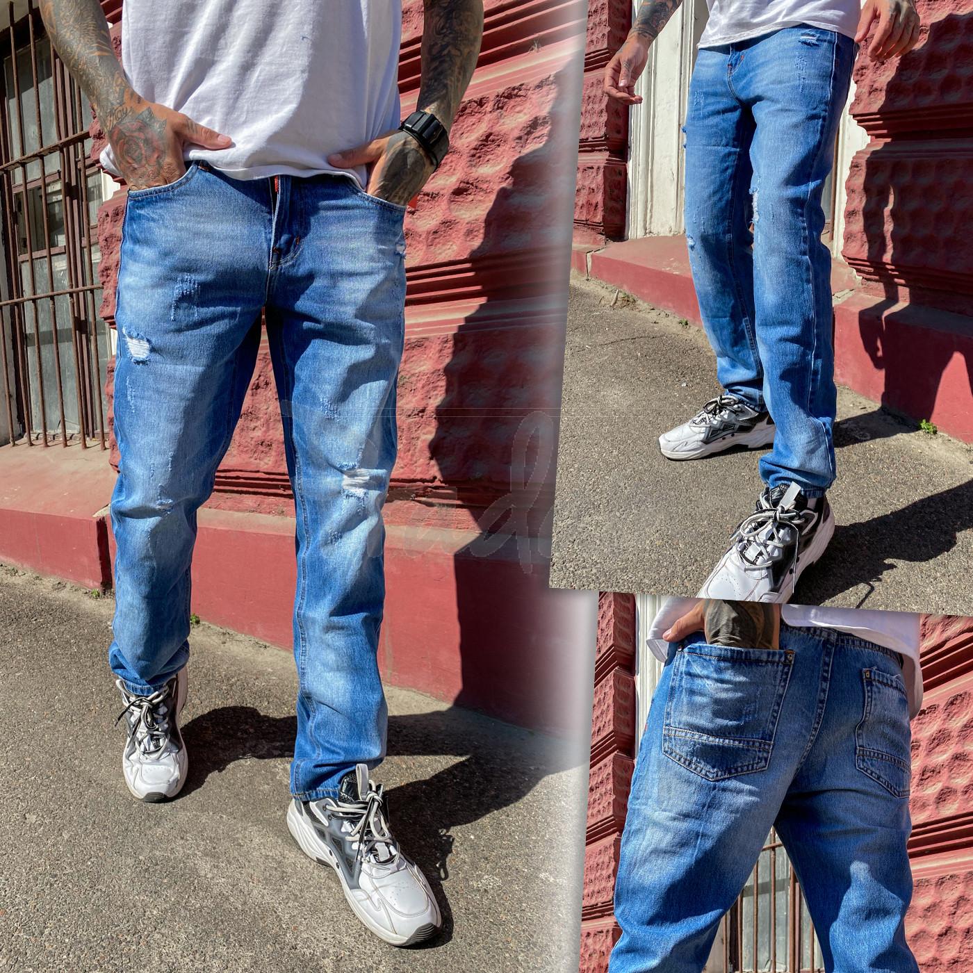 9901-3 Relucky джинсы мужские голубые стрейчевые (8 ед. размеры: 29.30.31.32.33.34.36.38)