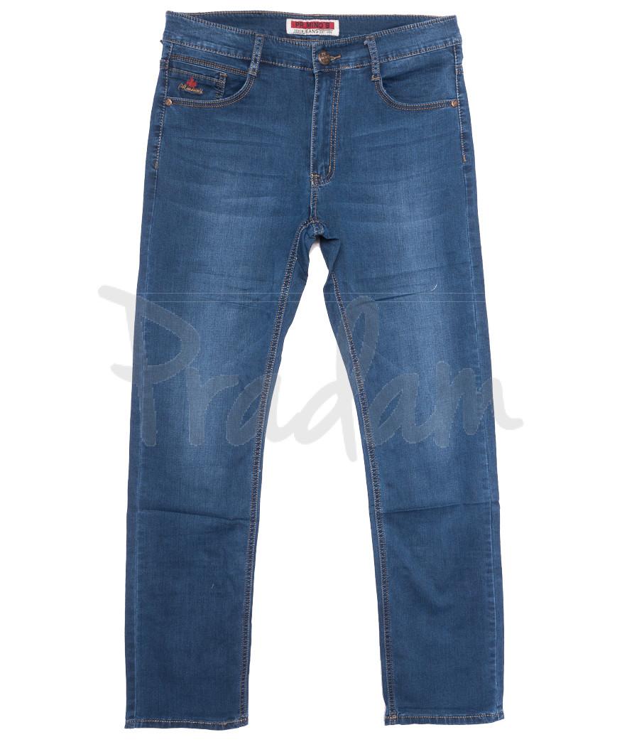 66009 Pr.Minos джинсы мужские полубатальные синие летние стрейчевые (32-38, 8 ед.)