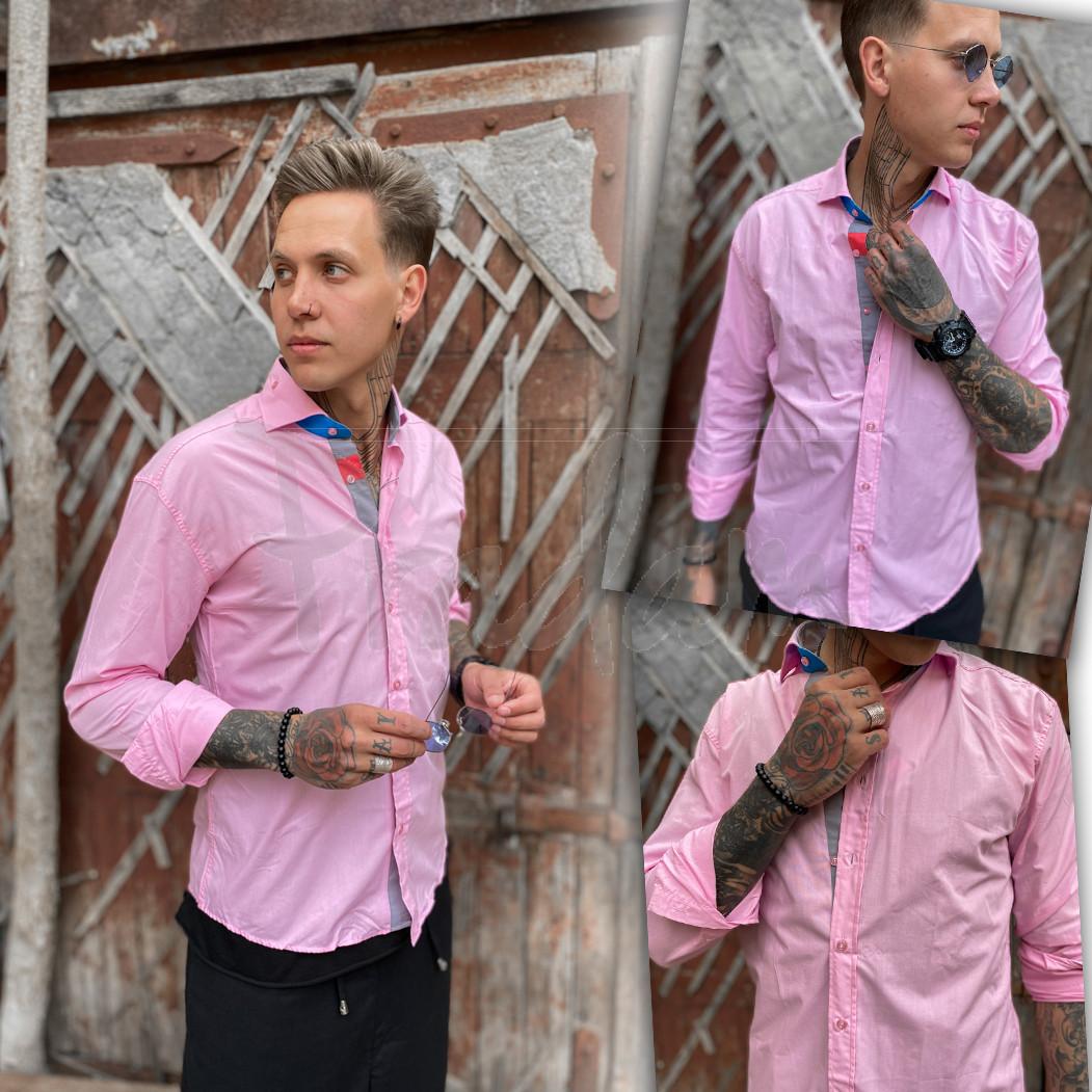 Розовая мужская рубашка Afish 1465-1