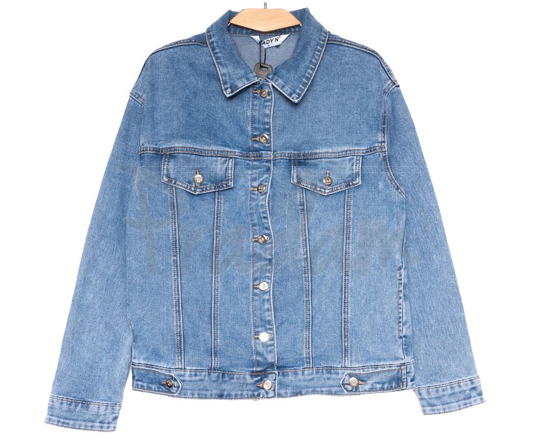 1510 Lady N куртка джинсовая женская синяя весенняя стрейчевая (L-4XL, 6 ед.)