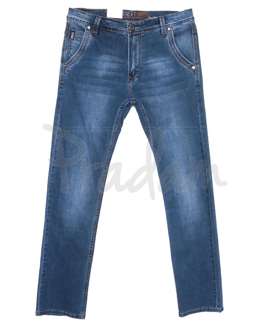 9428 Baron джинсы мужские полубатальные синие весенние стрейчевые (33-38, 8 ед.)