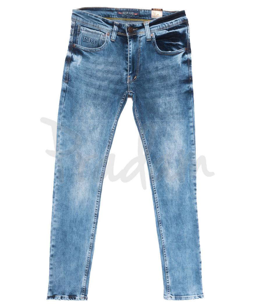 6849 Redcode джинсы мужские c царапками синие весенние стрейчевые (29-36, 8 ед.)