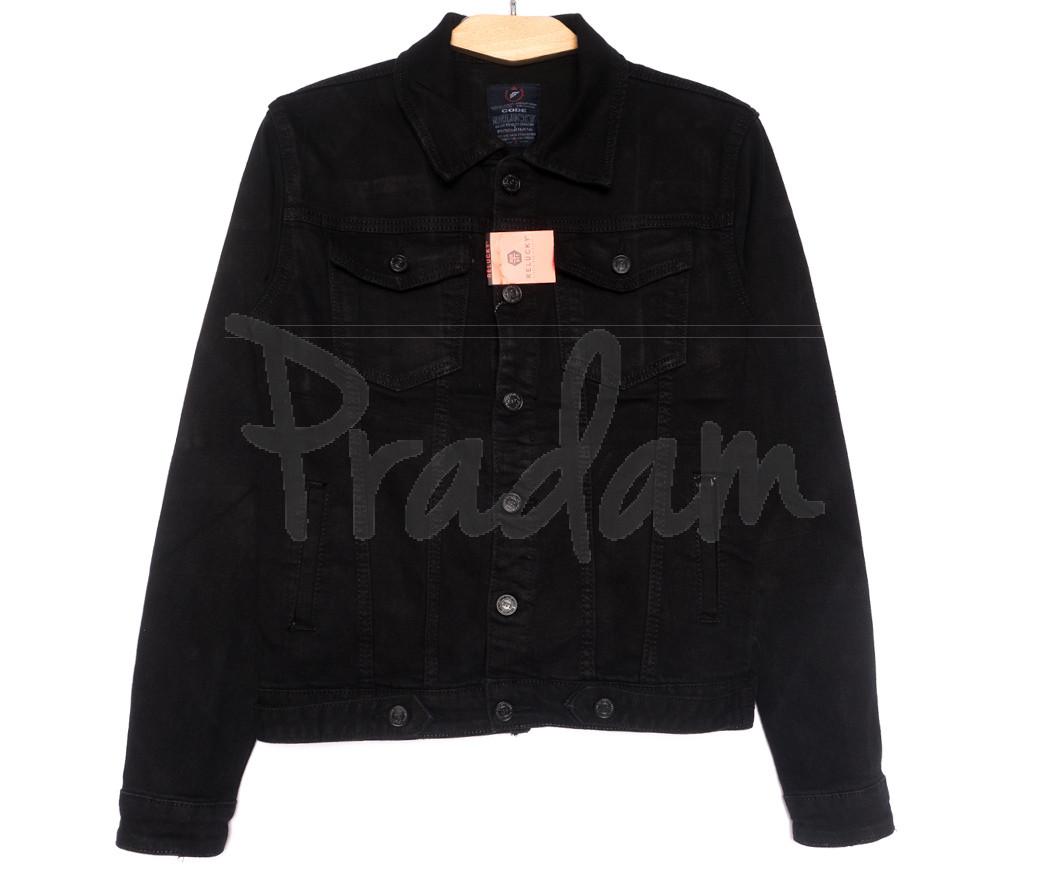2260-2 A Relucky куртка джинсовая женская черная осенняя стрейчевая (S-ХХL, 6 ед.)