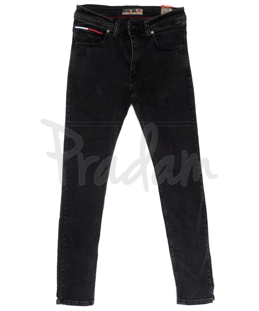 6838 Blue Nil джинсы мужские с царапками серые стрейчевые (29-36, 8 ед.)