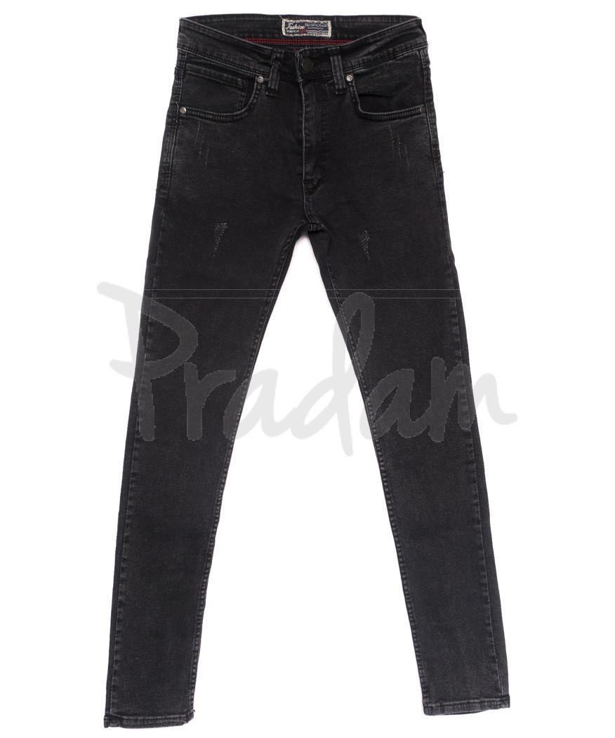 6837 Fashion red джинсы мужские с царапками серые весенние стрейчевые (29-36, 8 ед.)