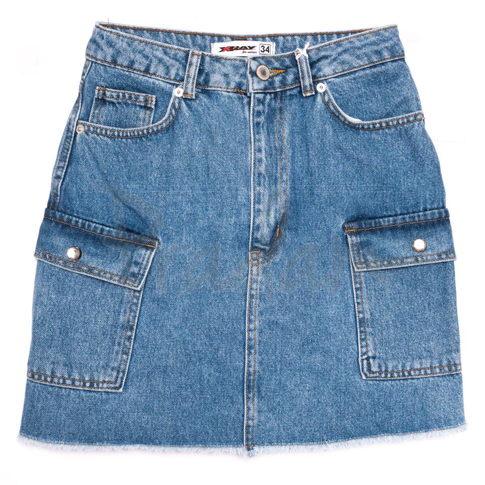 3327 Xray юбка джинсовая синяя весенняя коттоновая (34-40, 6 ед.)