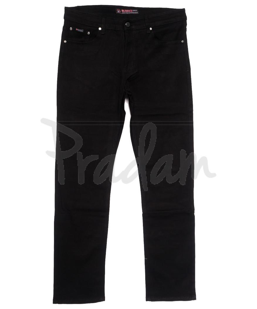 66039 Pr.Minos джинсы мужские полубатальные черные осенние стрейчевые (32-38, 8 ед.)