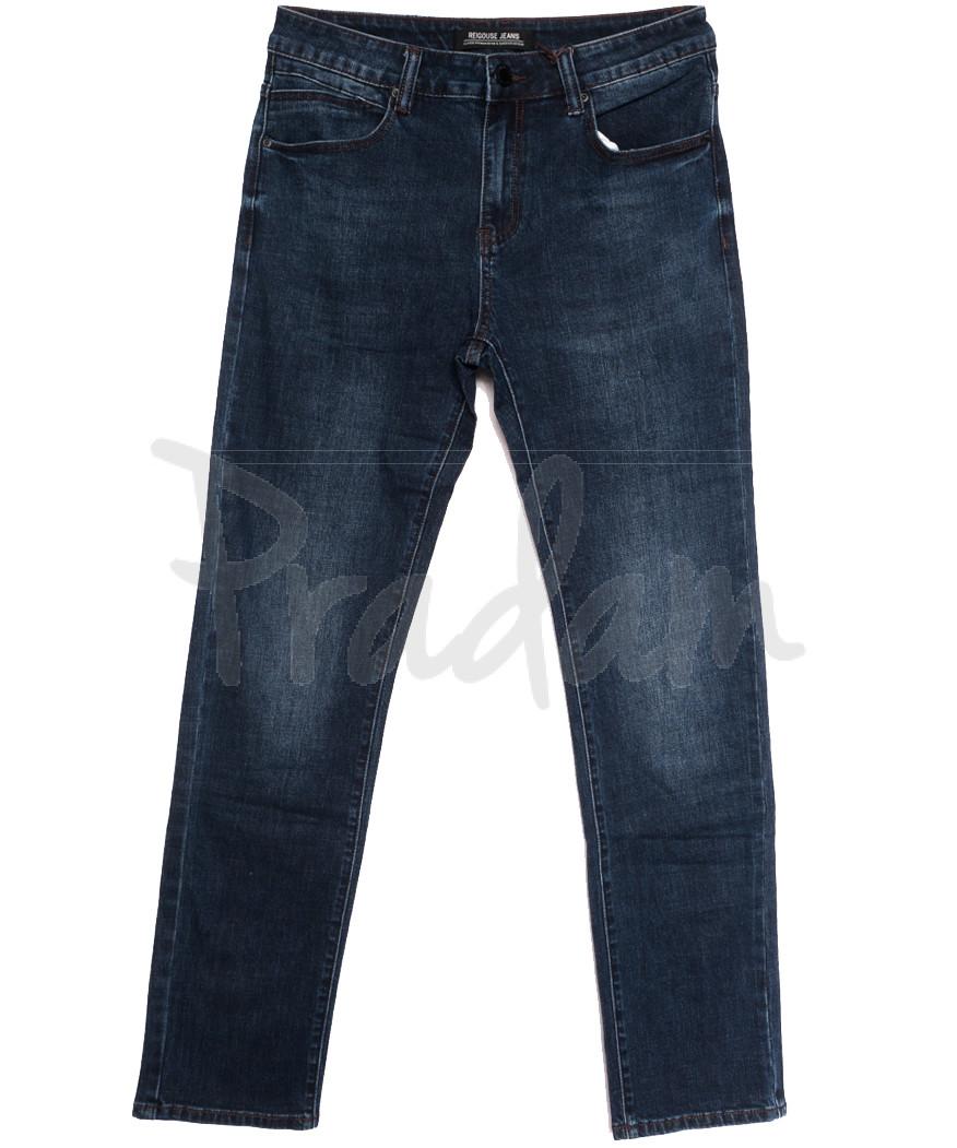 06777 (06-777) Reigouse джинсы мужские полубатальные синие осенние стрейчевые (32-40, 8 ед.)