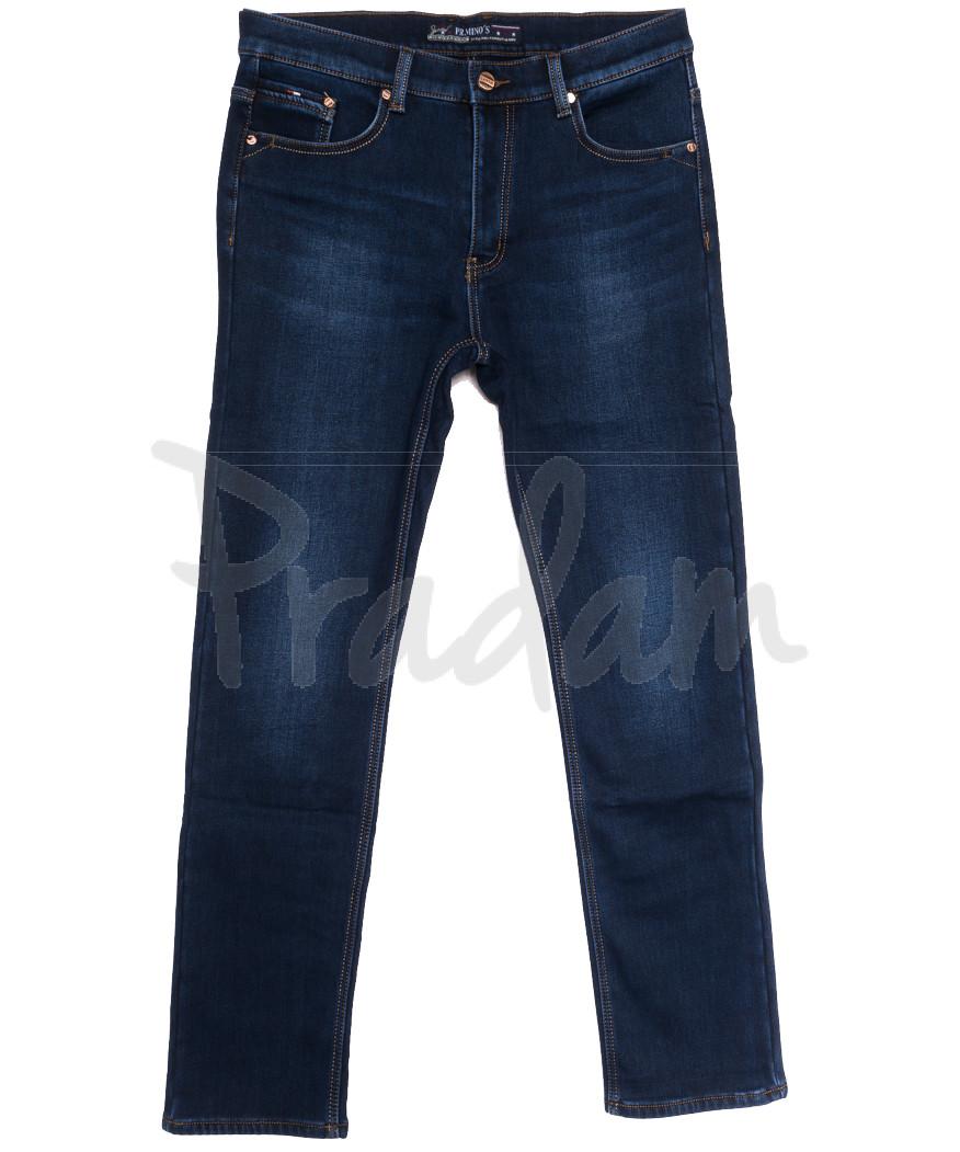 66052 Pr.Minos джинсы мужские полубатальные на флисе синие зимние стрейчевые (32-42, 8 ед.)