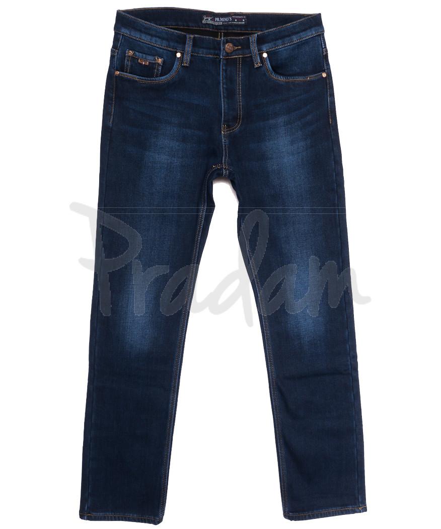 66051 Pr.Minos джинсы мужские полубатальные на флисе синие зимние стрейчевые (32-42, 8 ед.)