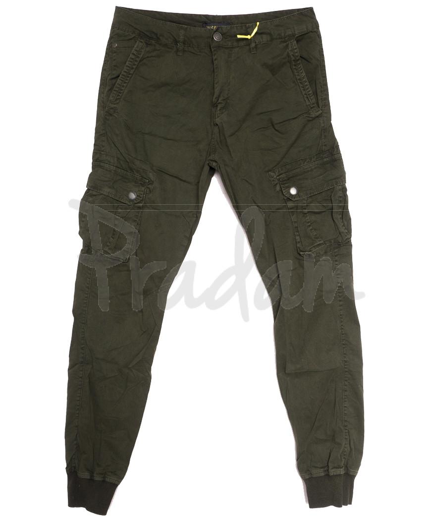 6510-22 хаки Caleb брюки карго мужские батальные стрейчевые (5 ед. размеры: 32.34.36.38.40)