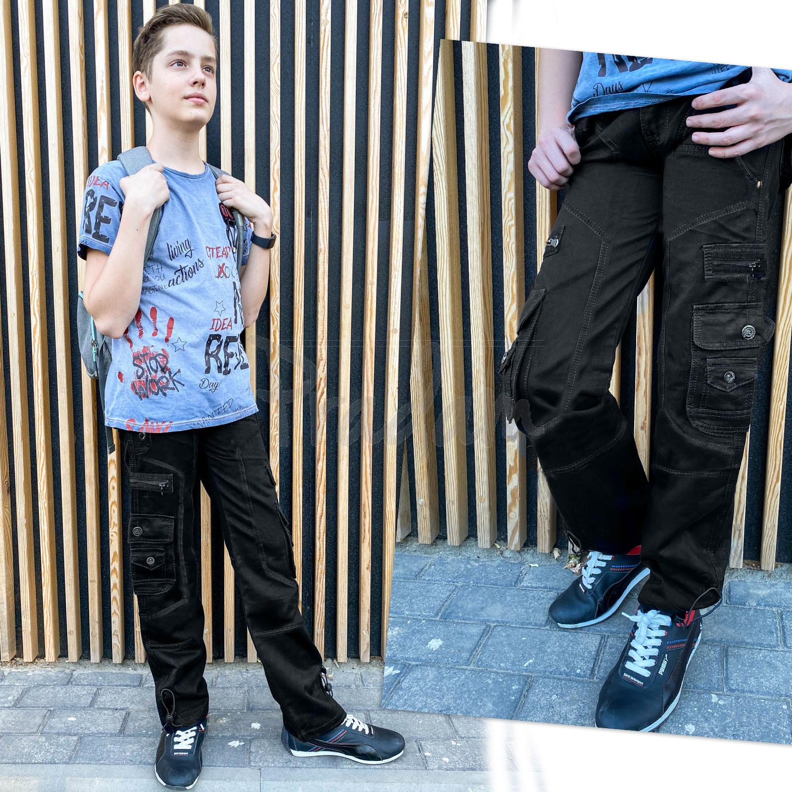 3178 Vigoocc подростковые джинсы карго на мальчика черные коттоновые (6 ед. размеры: 25.26.27.28.29.30)