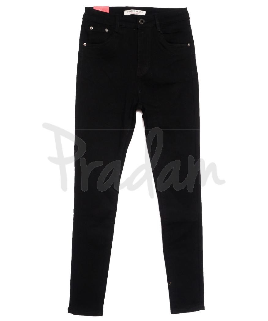 5263 Forest Jeans джинсы женские полубатальные черные осенние стрейчевые (28-33, 6 ед.)