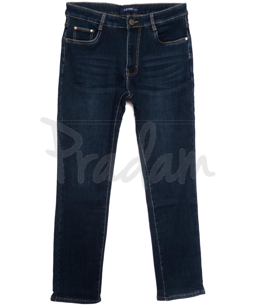 8008 Lavrs джинсы мужские на флисе синие зимние стрейчевые (29-38, 8 ед.)