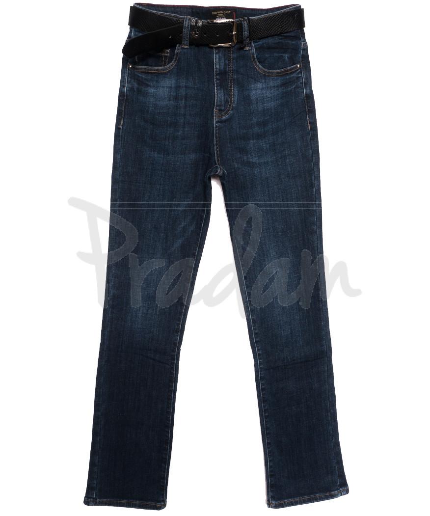 9695 Dimarkis Day джинсы женские батальные на флисе синие зимние стрейчевые (30-36, 6 ед.)