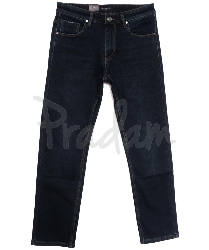 1077 Pаgalee джинсы мужские полубатальные на флисе темно-синие зимние стрейчевые (32-40, 8 ед.)