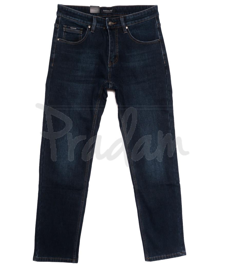 1073 Pаgalee джинсы мужские полубатальные на флисе синие зимние стрейчевые (32-38, 8 ед.)