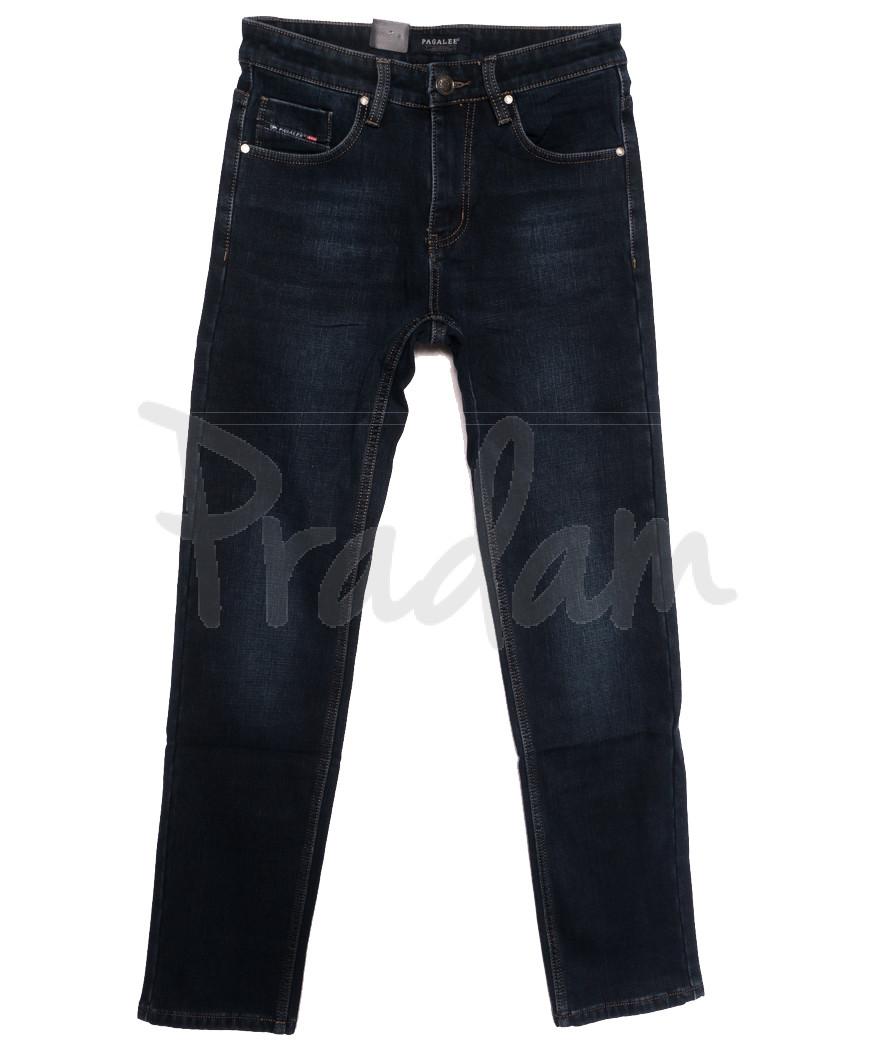 1083 Pаgalee джинсы мужские на флисе синие зимние стрейчевые (30-38, 8 ед.)