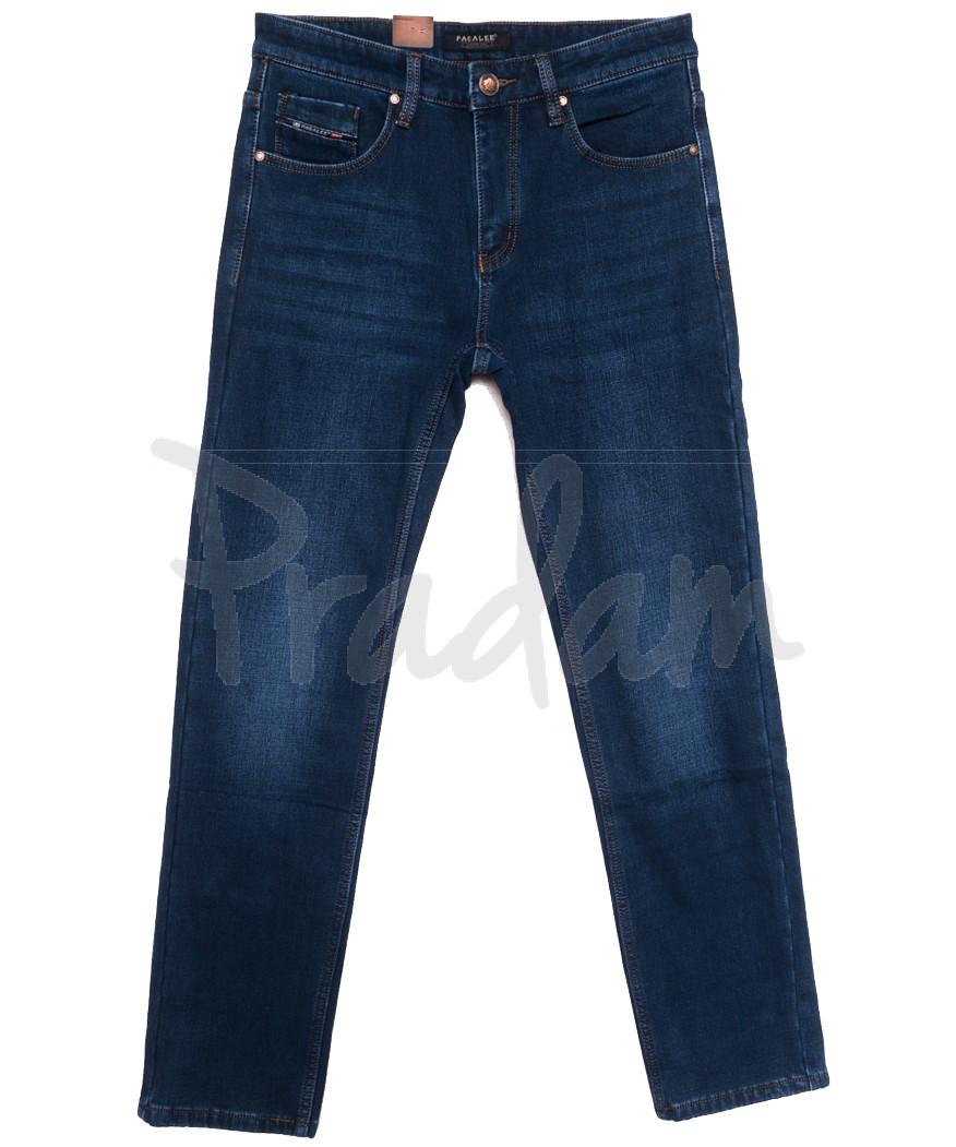 1082 Pаgalee джинсы мужские полубатальные на флисе синие зимние стрейчевые (32-38, 8 ед.)