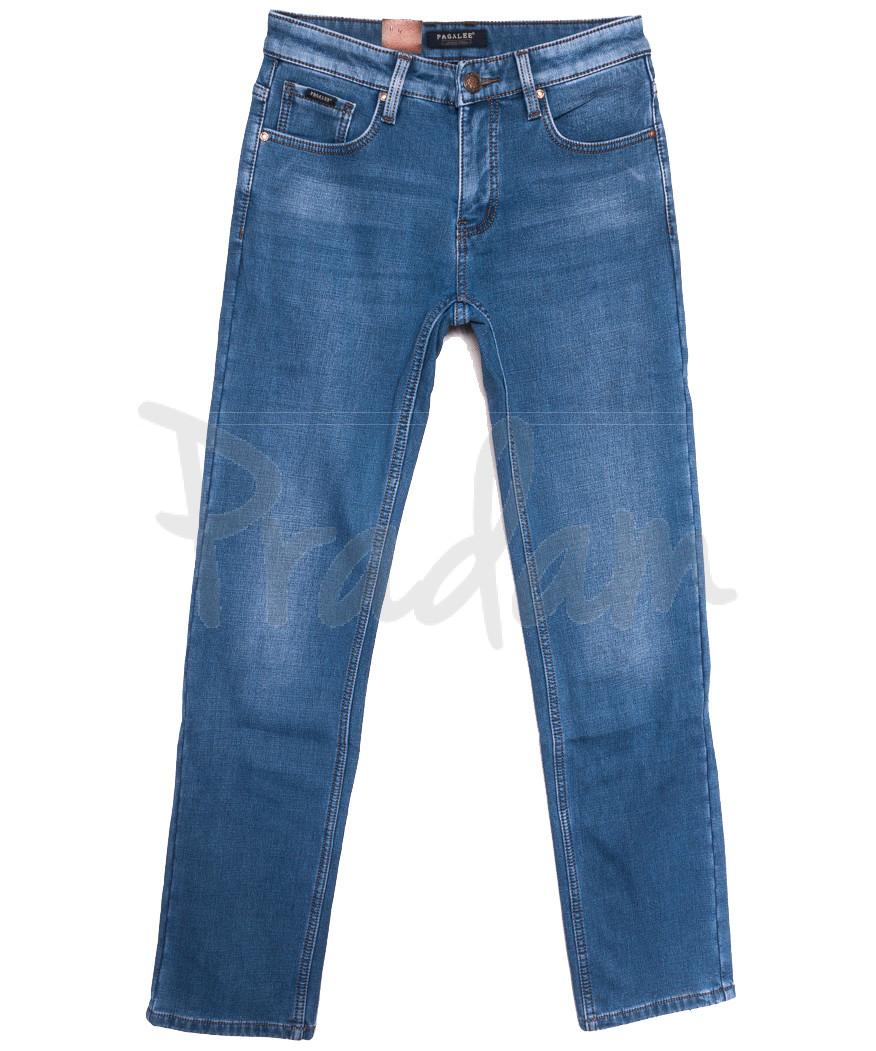 1033 Pаgalee джинсы мужские на флисе синие зимние стрейчевые (29-38, 8 ед.)