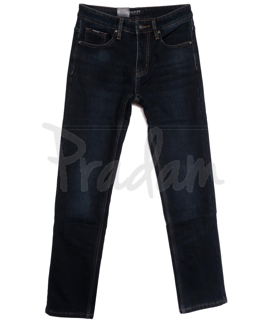 1027 Pаgalee джинсы мужские на флисе темно-синие зимние стрейчевые (30-38, 8 ед.)