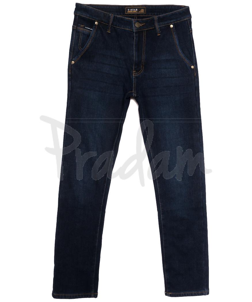 07999 T-Star джинсы мужские на флисе темно-синие зимние стрейчевые (30-40, 8 ед.)