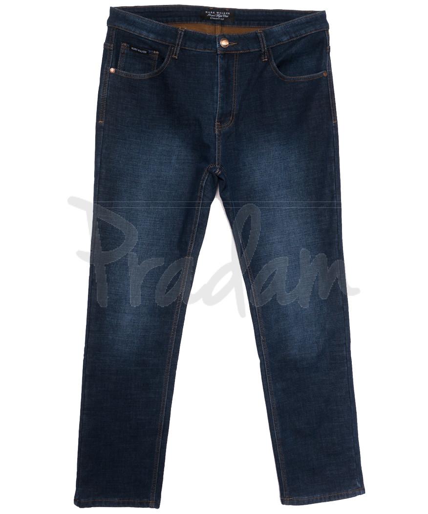 9902 Mаrk Walker джинсы мужские батальные на флисе синие зимние стрейчевые (36-42, 8 ед.)