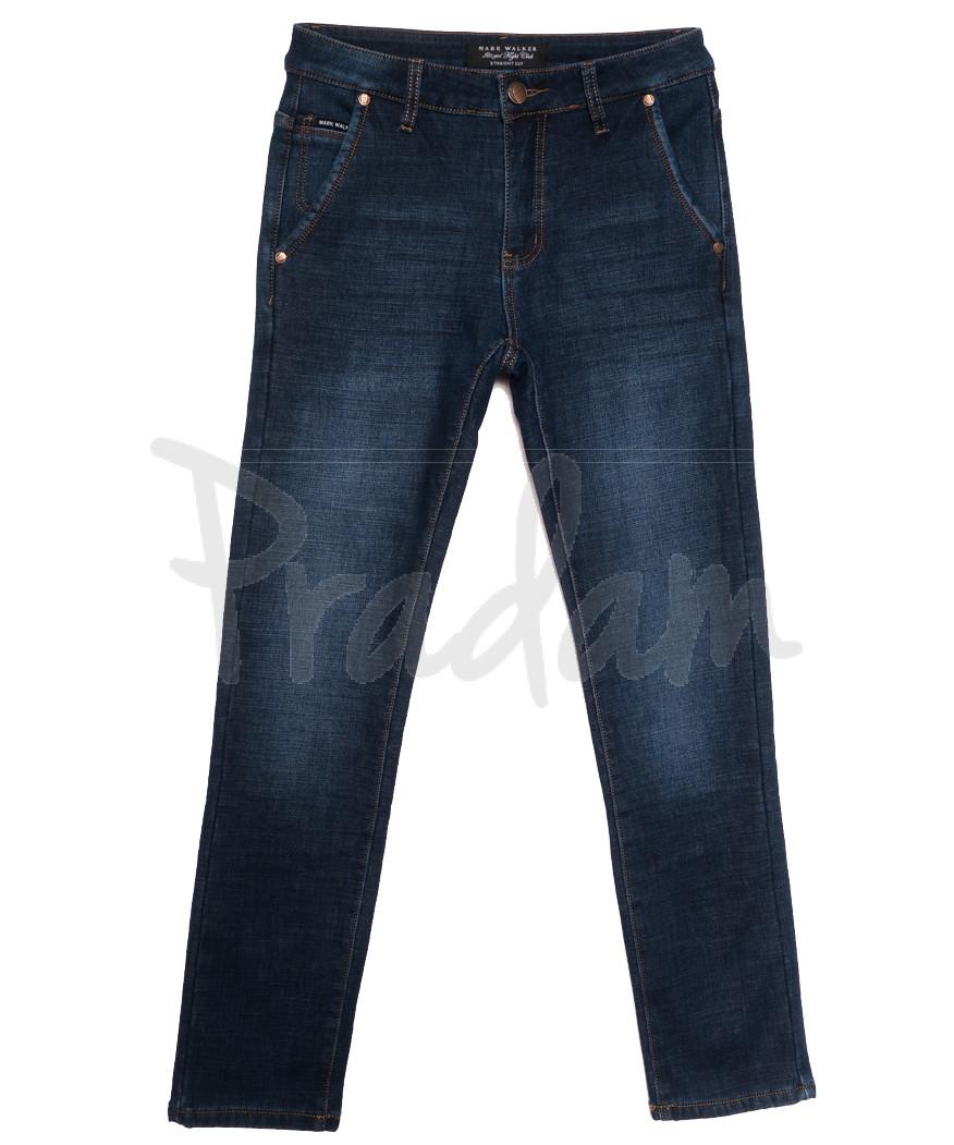 9028 Mаrk Walker джинсы мужские на флисе синие зимние стрейчевые (29-38, 8 ед.)