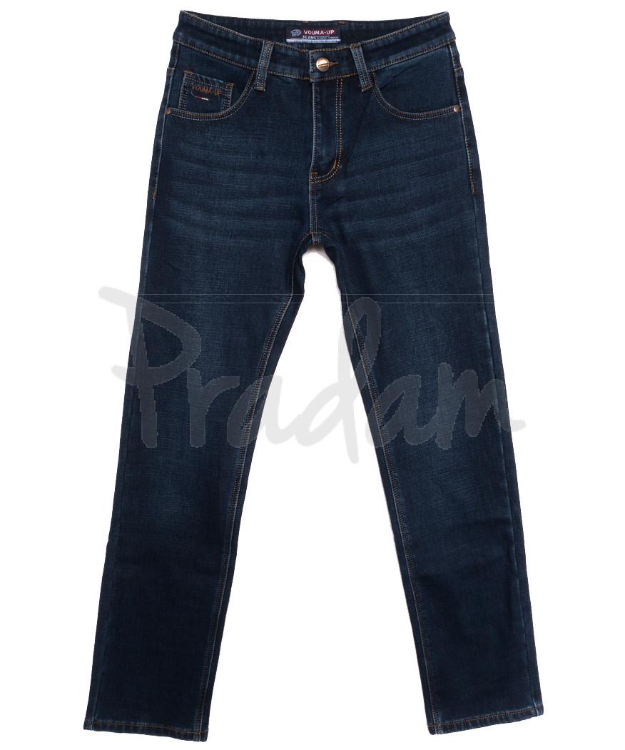 8213 Vouma-Up джинсы мужские на флисе синие зимние стрейчевые (29-38, 8 ед.)