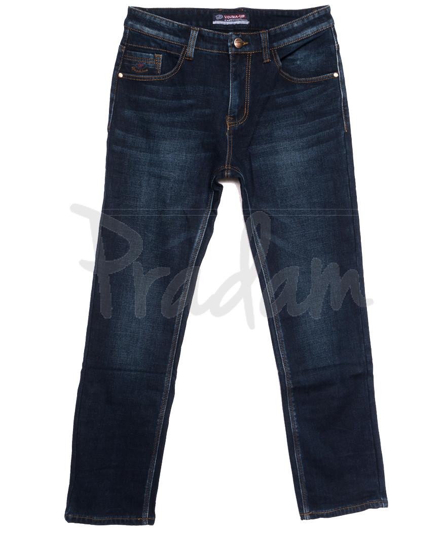 8217 Vouma-Up джинсы мужские полубатальные на флисе синие зимние стрейчевые (32-38, 8 ед.)